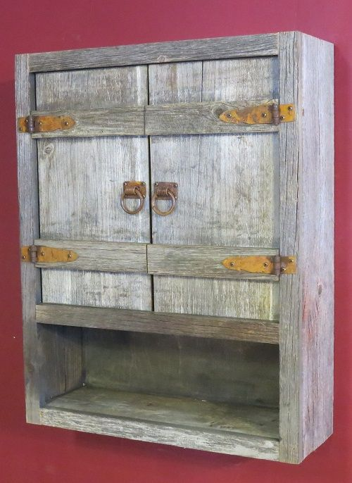 Best Weathered Gray Toilet Cabinet Rustic Toilets Old Barn 400 x 300