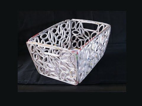 How to make basket from newspaper best out of waste diy basket making newspaper craft in this video tutorial you will be able to learn how to make a