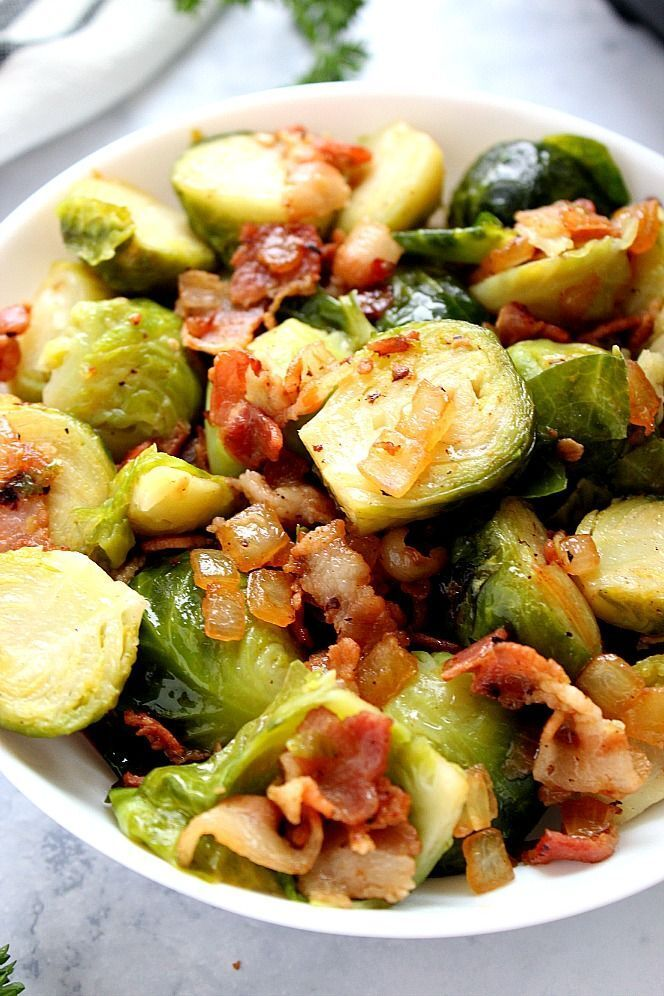 Instant Pot Bacon Brussels Sprouts Recipe - quick and easy #brusselsproutrecipes