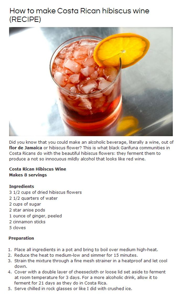 How To Make Simple Hibiscus Wine Wine Recipes Food Psychology Food To Make