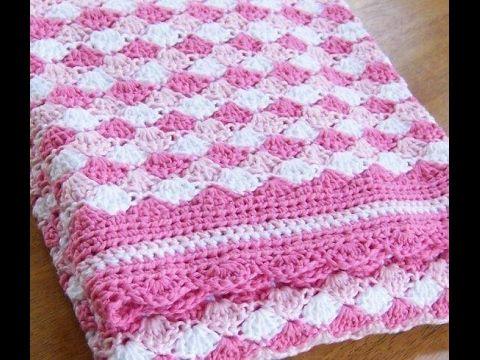 Shell stitch - shell blanket - shell - crochet English - YouTube ...