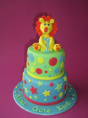 First Birthday Cake with Lion Lion cakes Cake and Birthdays