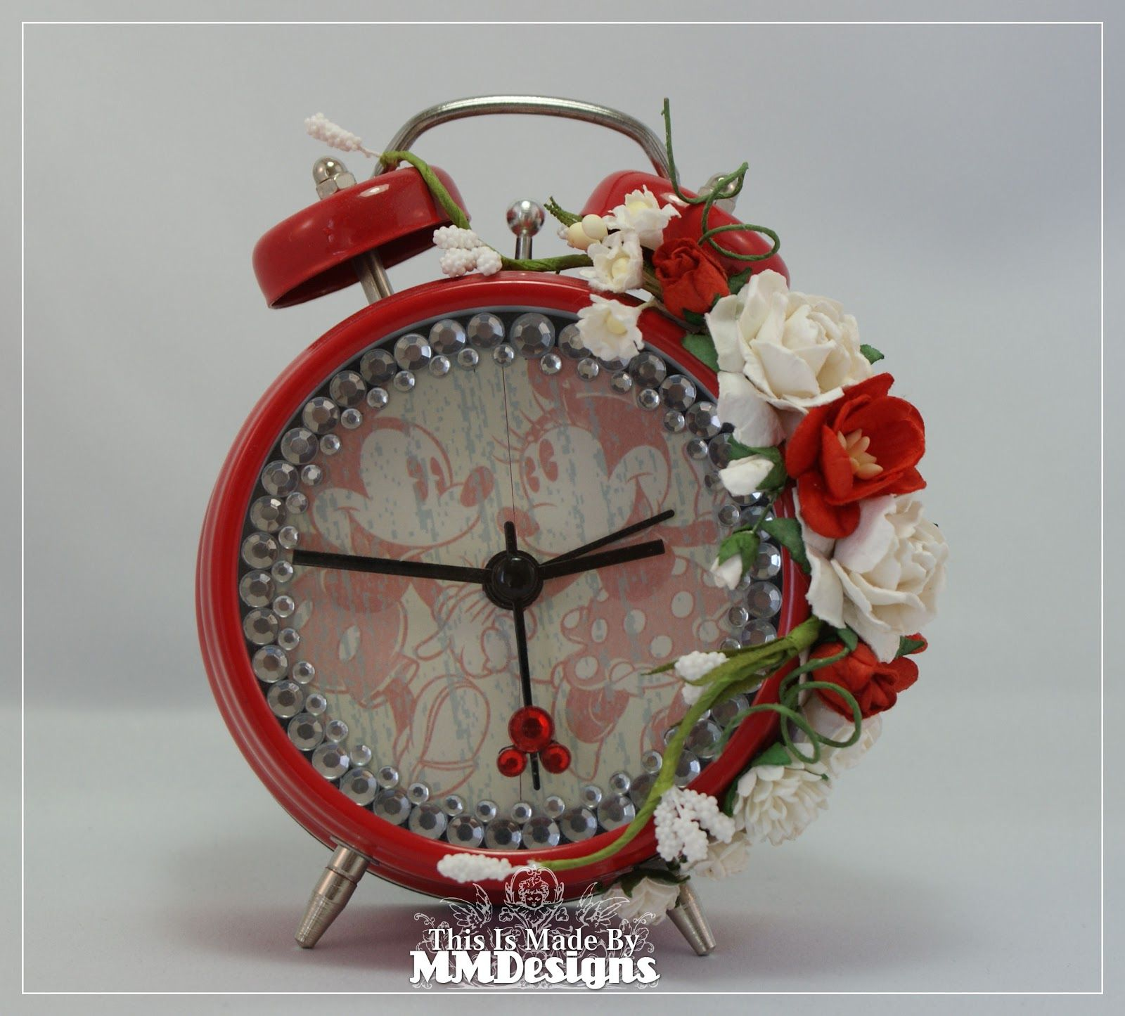 Scrap-a-licious-times: Mickey & Minnie Altered Alarm Clock.