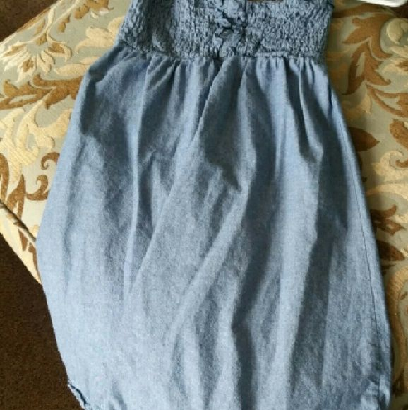 17b95df16a Mini Jean dress by Wet Seal Fun little Jean dress. Stretch on the top and