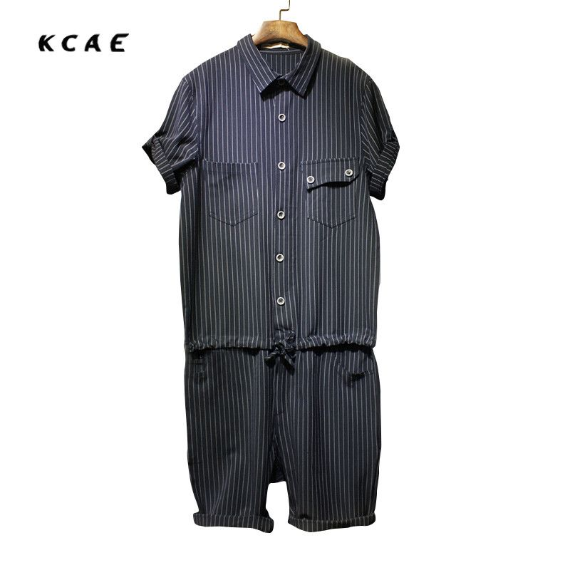 2017 mens jeans bib overalls fashion striped black and on men s insulated coveralls cheap id=90339