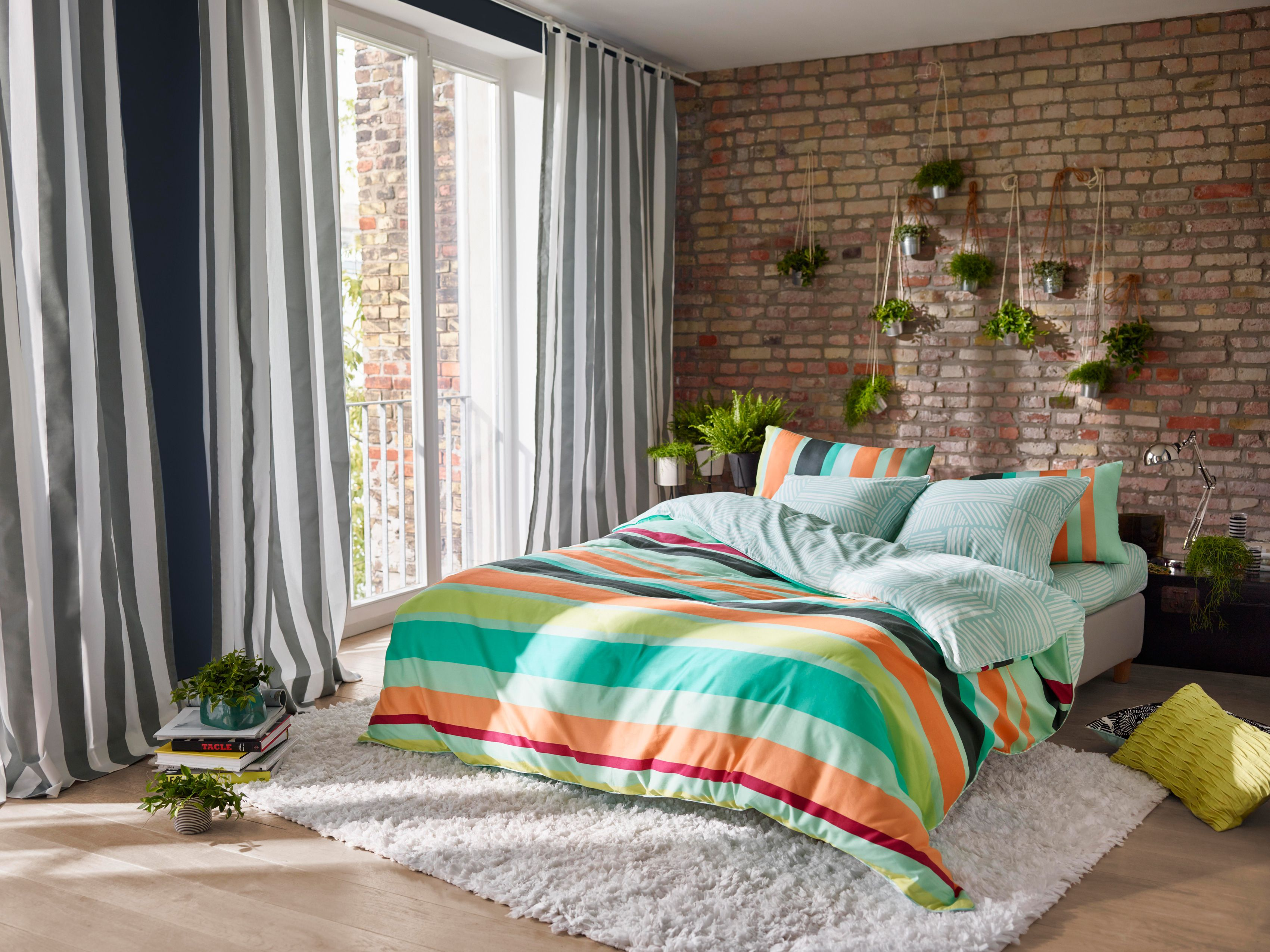 #EspritHome #striped #bedding #curtains