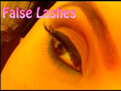 False Lashes! How to Apply  PinkOrchidMakeup