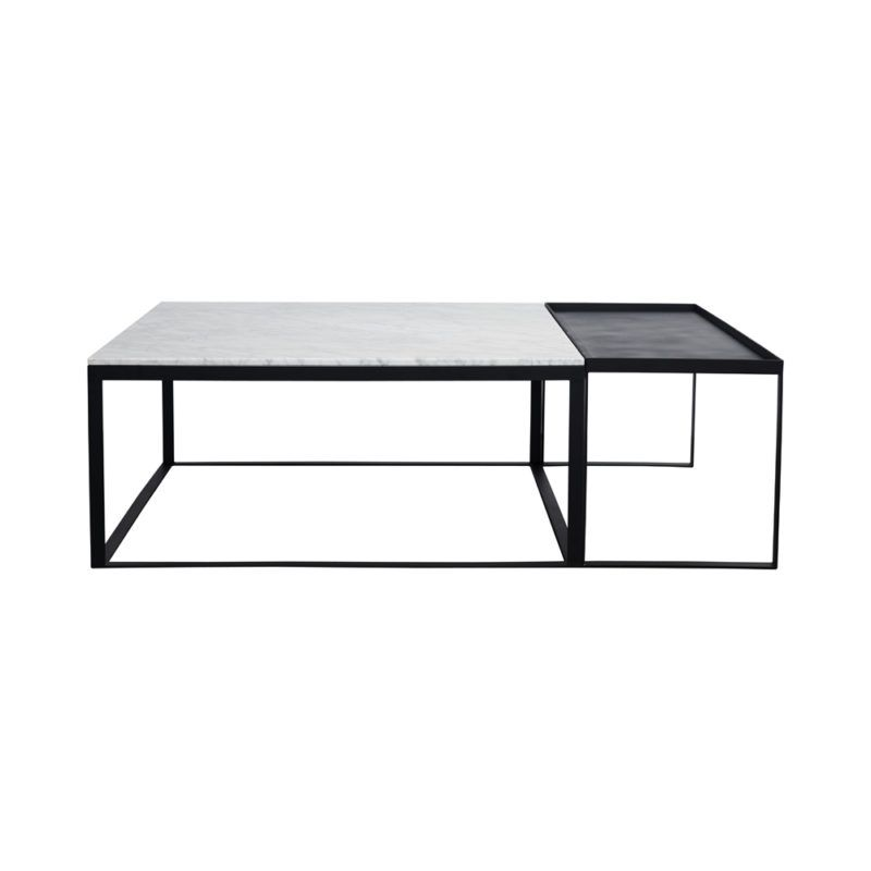 Modern Square Marble Coffee Table Black Metal Base Marble Coffee Table Set Coffee Table Legs Metal Coffee Table Design