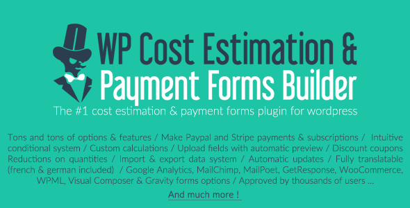 wp cost estimation payment forms builder popular wordpress