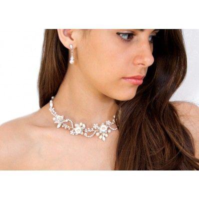 grandi affari prezzo più economico retrò Arya Italian Jewels - Bridal Necklace with Swarovski Crystal ...