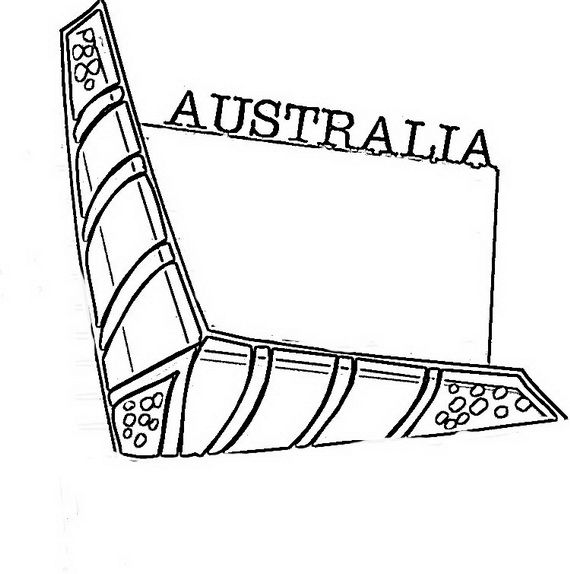 australia day coloring pages for kids_09 - Australia Coloring Pages Printable