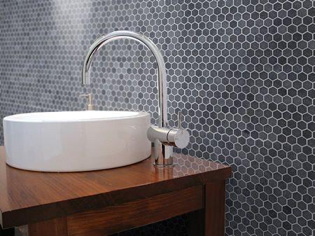 Tosca Bluestone Hexagon Small Mosaic 300Mm X 300Mm Sheet  Mosaics Beauteous Mosaic Feature Tiles Bathroom Review