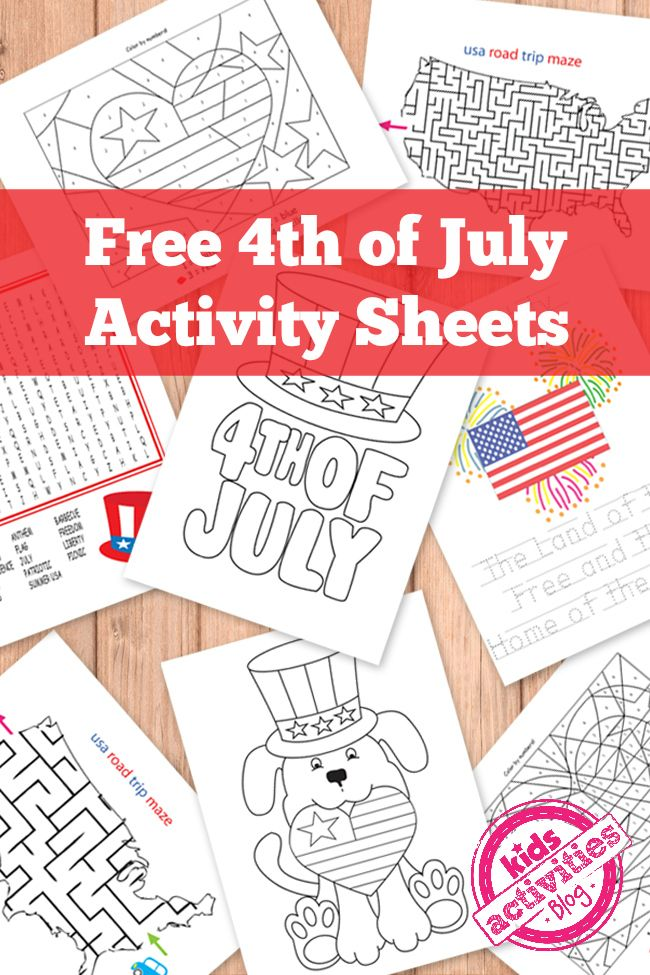 Free 4th of July Kids Activity Printables | Terapia ocupacional ...