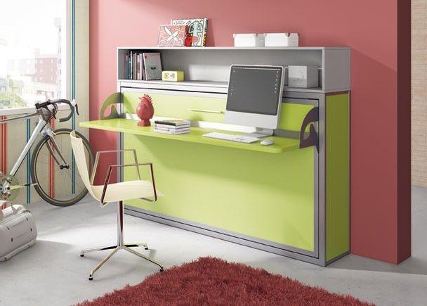 Cama abatible horizontal para colch n de 90 x 190 con escritorio pleg novedades de mueble - Cama plegable escritorio ...