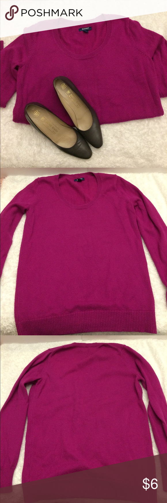 Old Navy purple sweater Bright purple/pink Old Navy sweater size ...