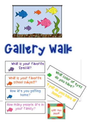 First day of school gallery walk graphing questions | Math ...