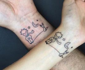 the little prince couples tattoo couples tattoos pinterest couples tattoo and tatoo. Black Bedroom Furniture Sets. Home Design Ideas