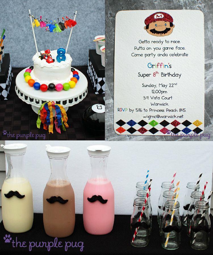 Mario Kart Mustache Mania Party