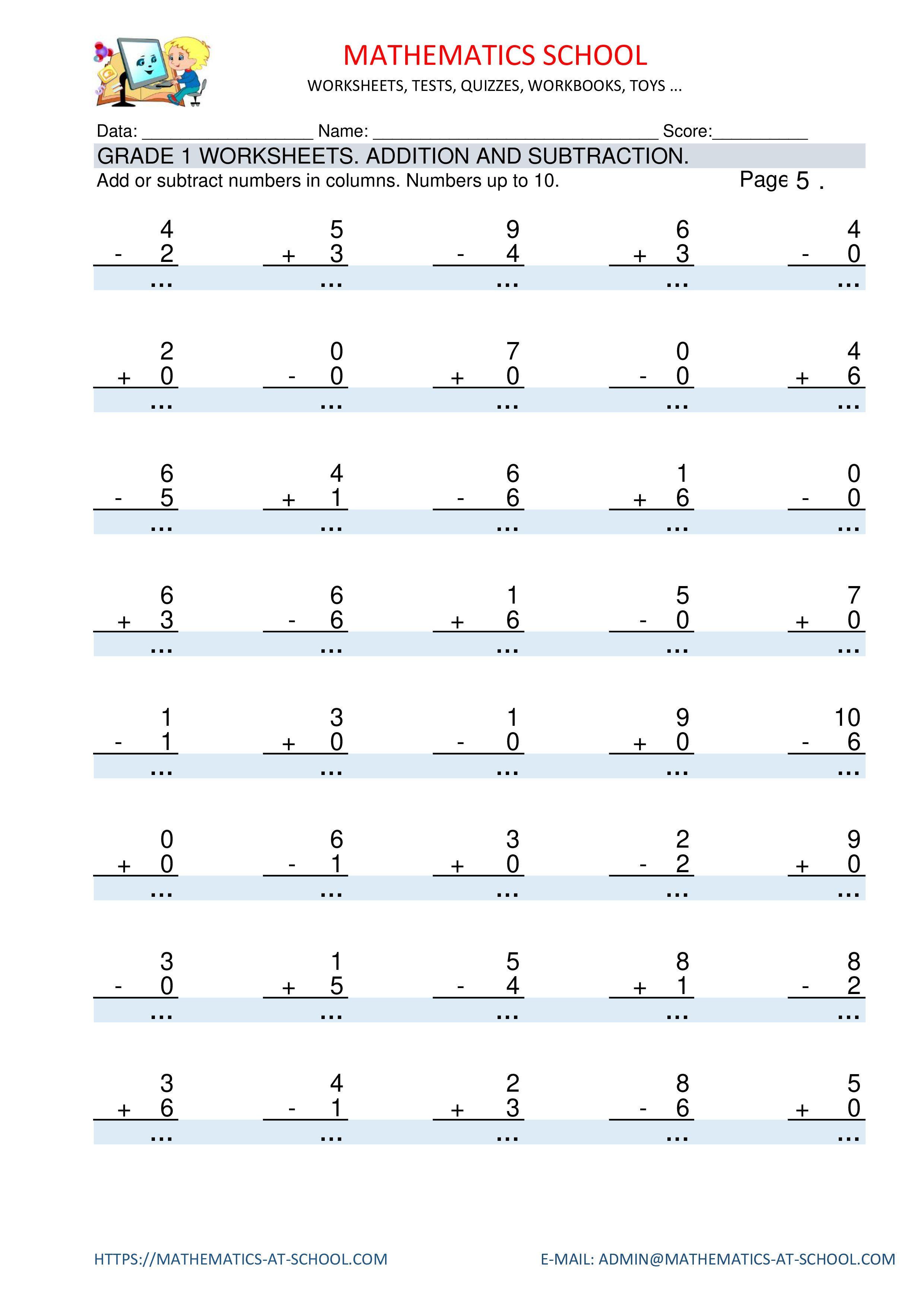 Pin By Milena Bogat On Matematika In 2021 1st Grade Worksheets Subtraction Math Printables