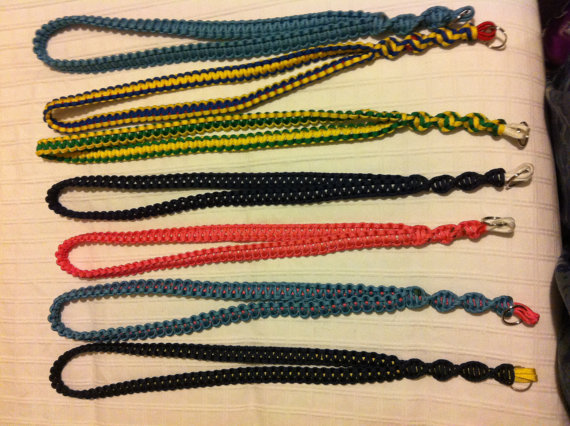 Handmade 550 Paracord Neck Lanyard Cobra Knot Design Available