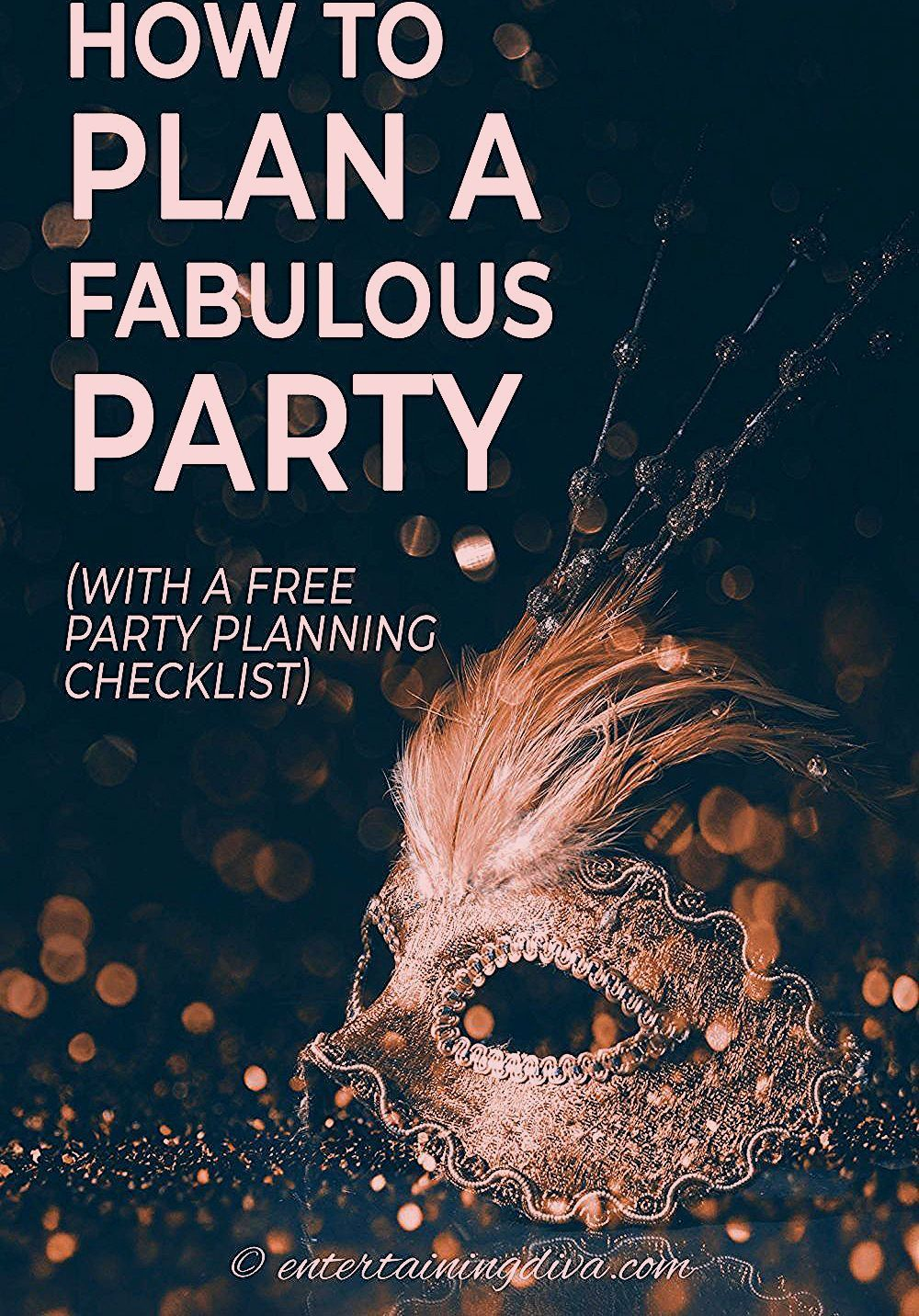 Photo of How To Plan A Party (and a Party Planning Checklist) – Entertaining Diva @ From House To Home