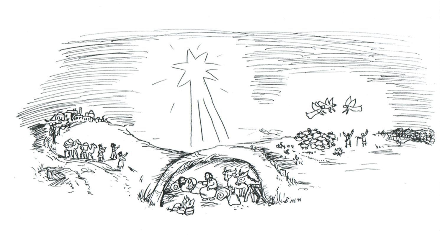 Stern | Marions Zeitfenster Idee Idee 20 Ausmalbilder Weihnachten