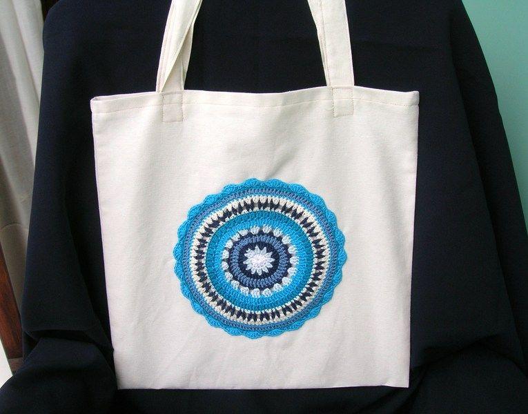 Tote bag azul de Priscila´s store por DaWanda.com