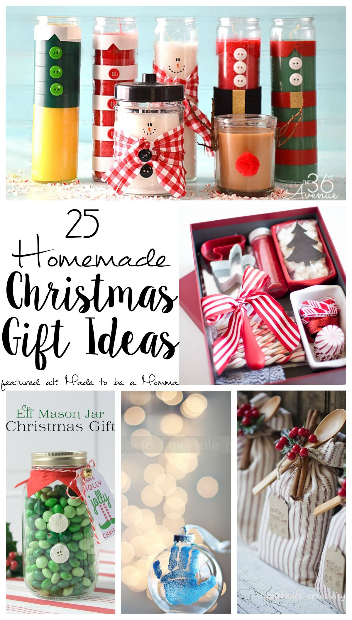 25 homemade christmas gift ideas bloggers fun family projects need a few do it yourself christmas gift ideas try some of these sugar scrubs ornaments and more to really show your family how much you care solutioingenieria Images