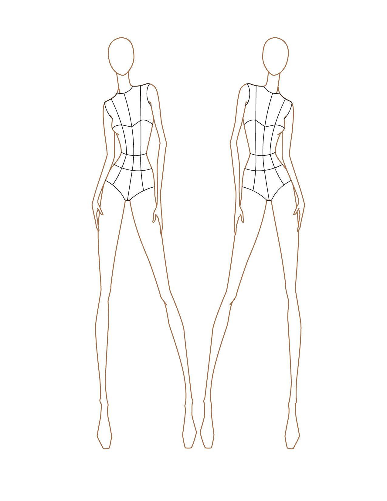 Fashion Models Outlines