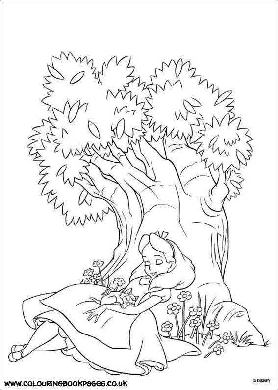 19 Free Alice in Wonderland colouring pages online. All our ...