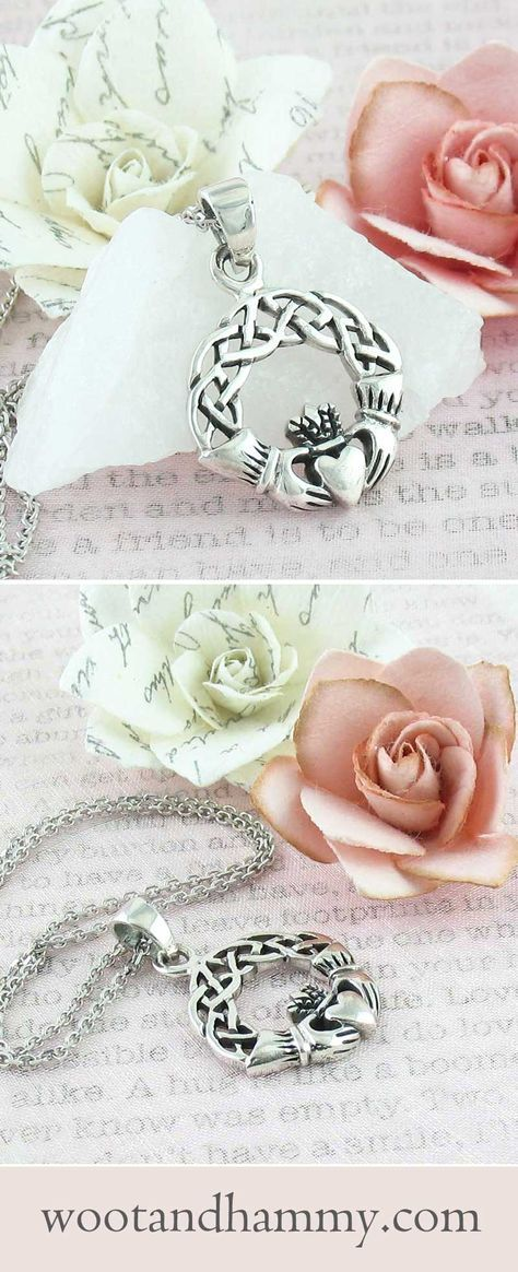 Claddagh Necklace Claddagh, Celtic wedding rings, Celtic
