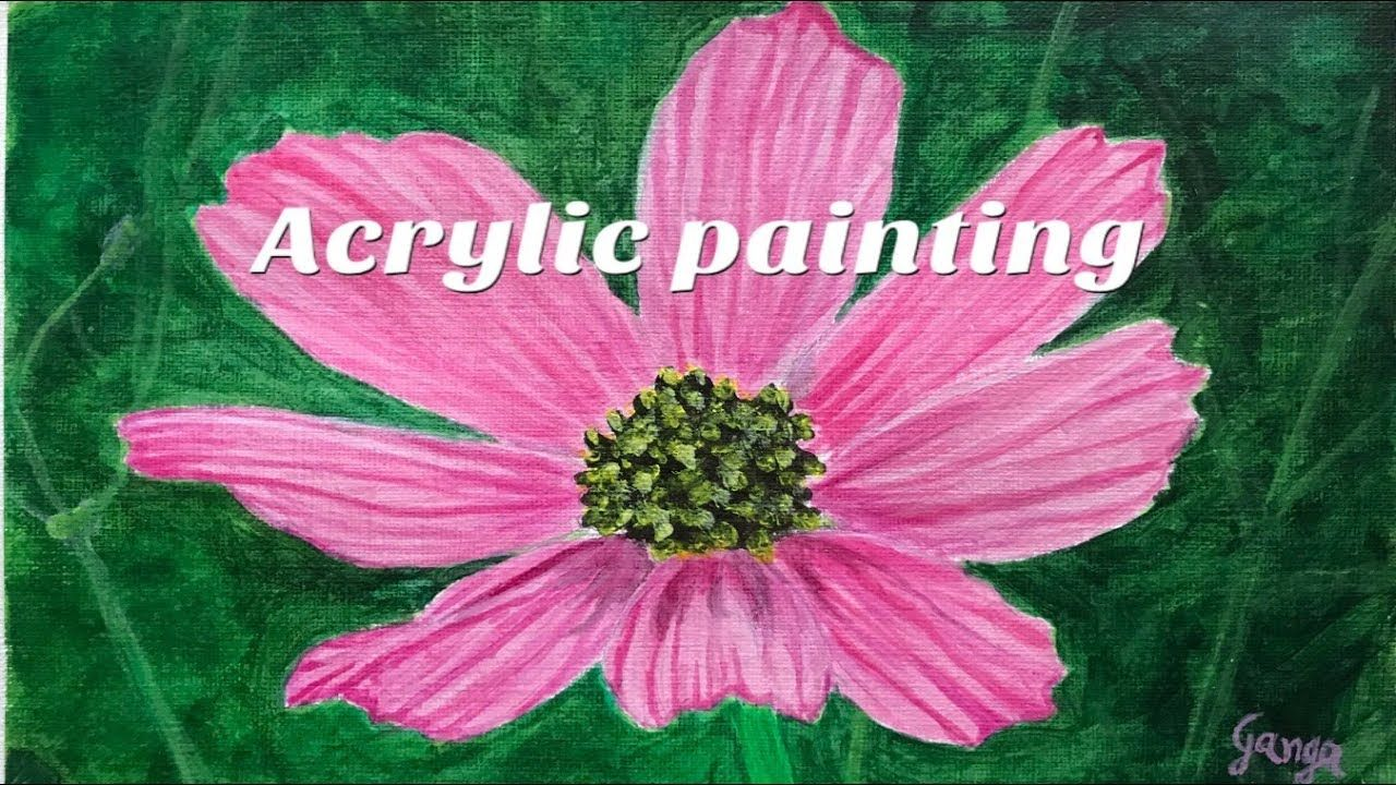 Pink Flower Acrylic Painting How To Paint Pink Flower In Acrylics