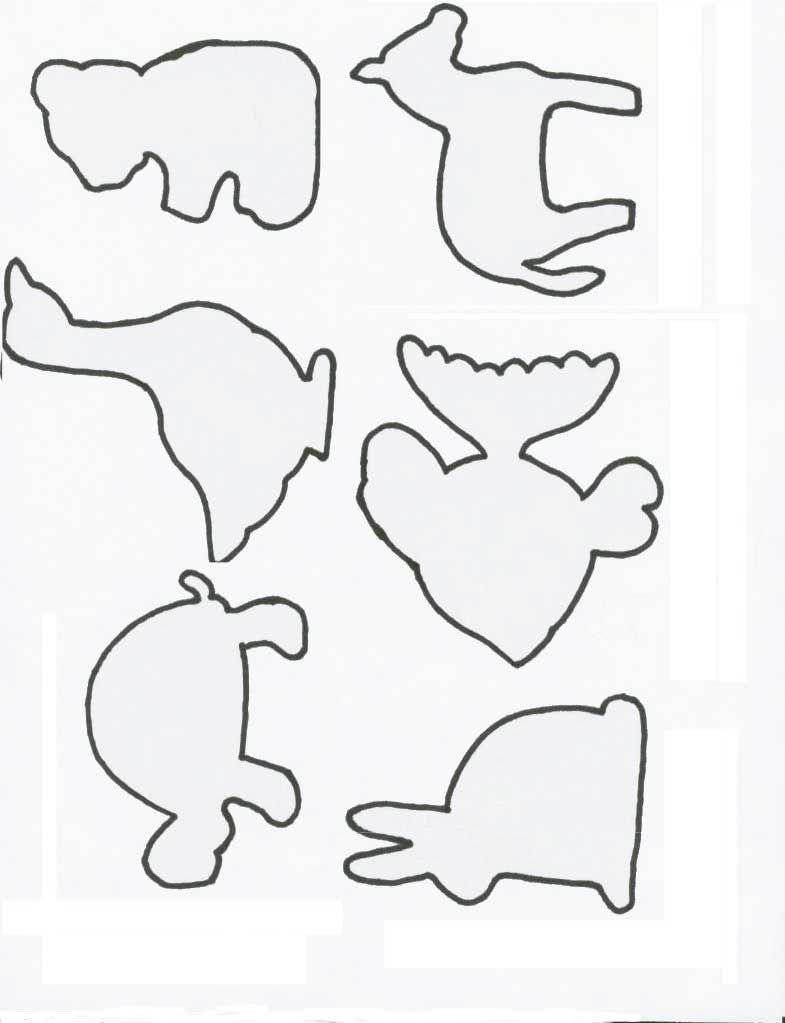Farm Animal Templates To Cut Out Tabletop Puzzles Animals Stuffed Patterns Shapes
