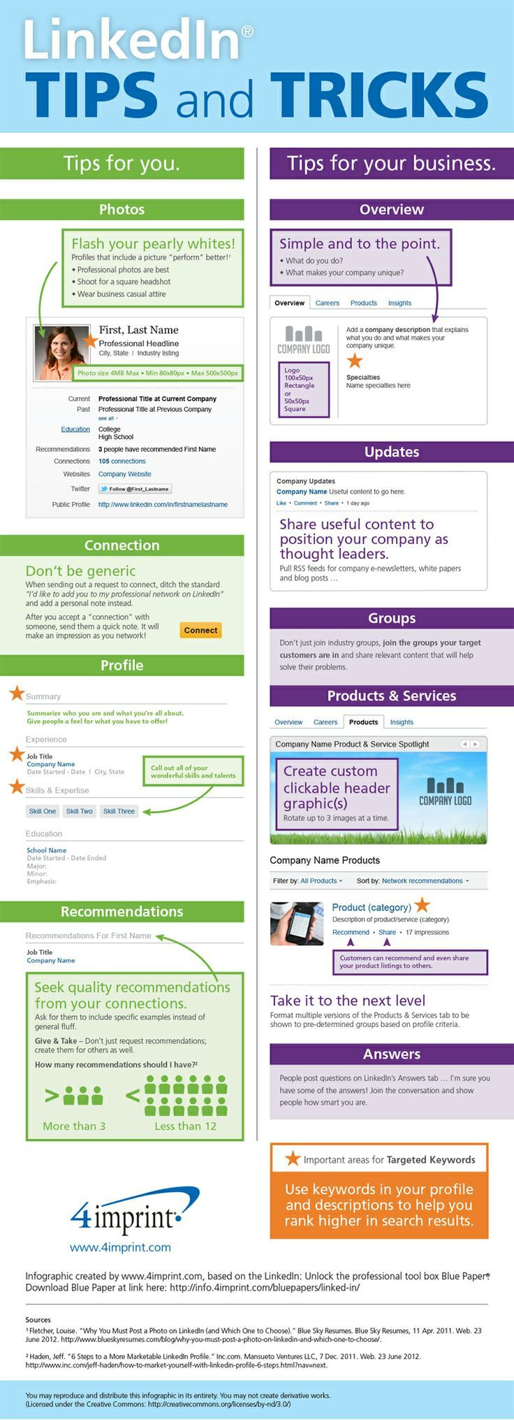 """Nathan S. Gibson shares the infographic """"LinkedIn Tips and"""