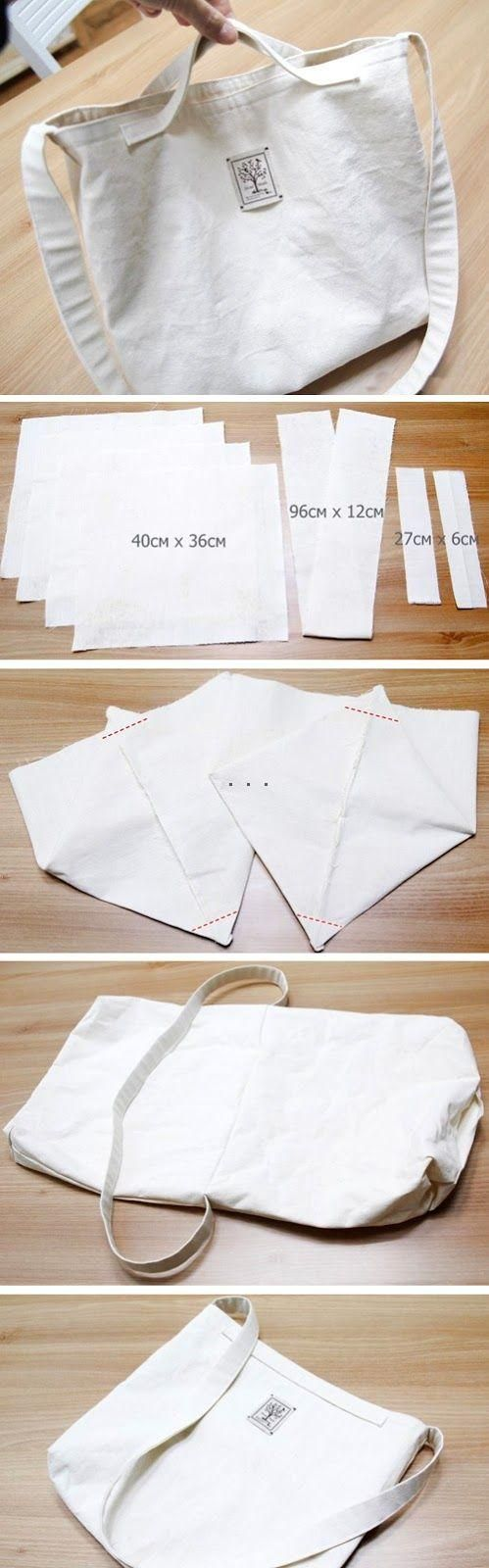 How-to-Sew-Double-Sided-Eco-Bag | Sewing | Pinterest | Jeanstasche ...