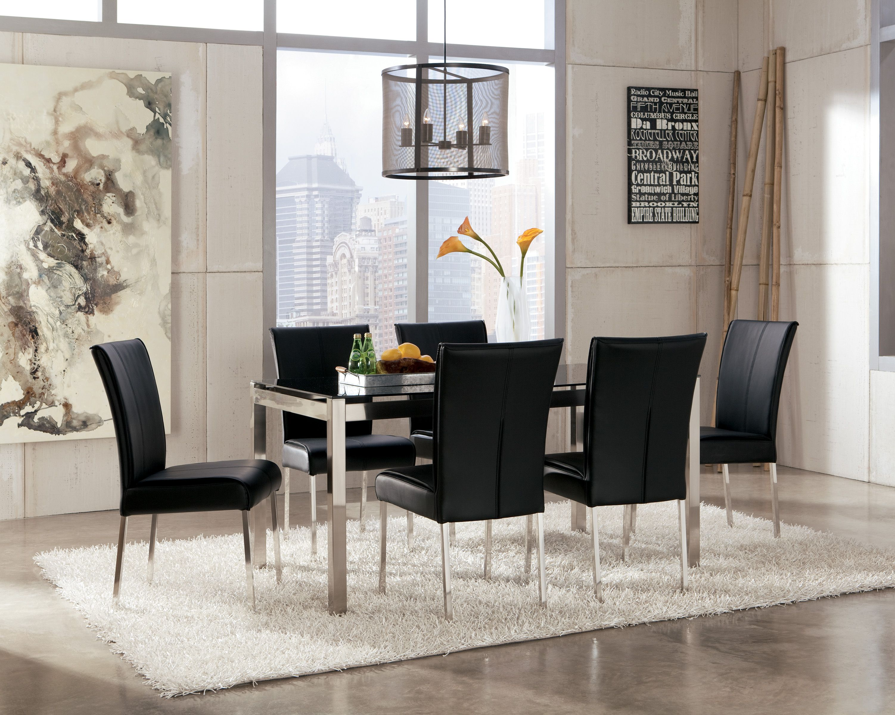 Modern Black Dining Room Table  Go To Chinesefurnitureshop Endearing Tall Dining Room Sets Design Decoration