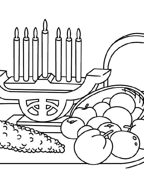 Kwanzaa Along With Food Coloring For Kids Food Coloring Pages