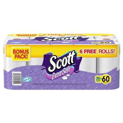 Scott Extra Soft Toilet Paper 30 Double Rolls - Target Inventory