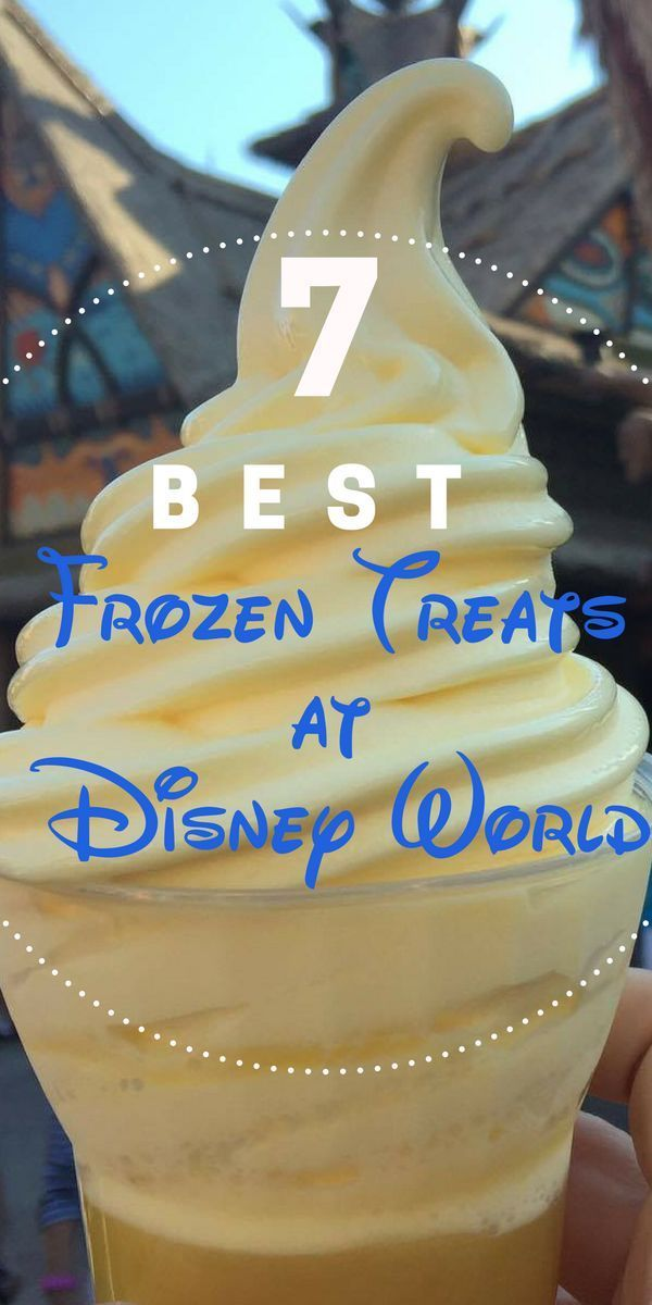 The best ice cream and frozen treats at Walt Disney World. From Mickey ice cream bars to Dole Whips and much more!