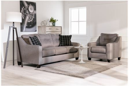 Our Brindon Sofau0027s Dapper Design Proves That Fashionable Furnishings Donu0027t  Have To Cost A Fortune. Tailored Charcoal Grey Upholstery Dresses This  Piece To ...