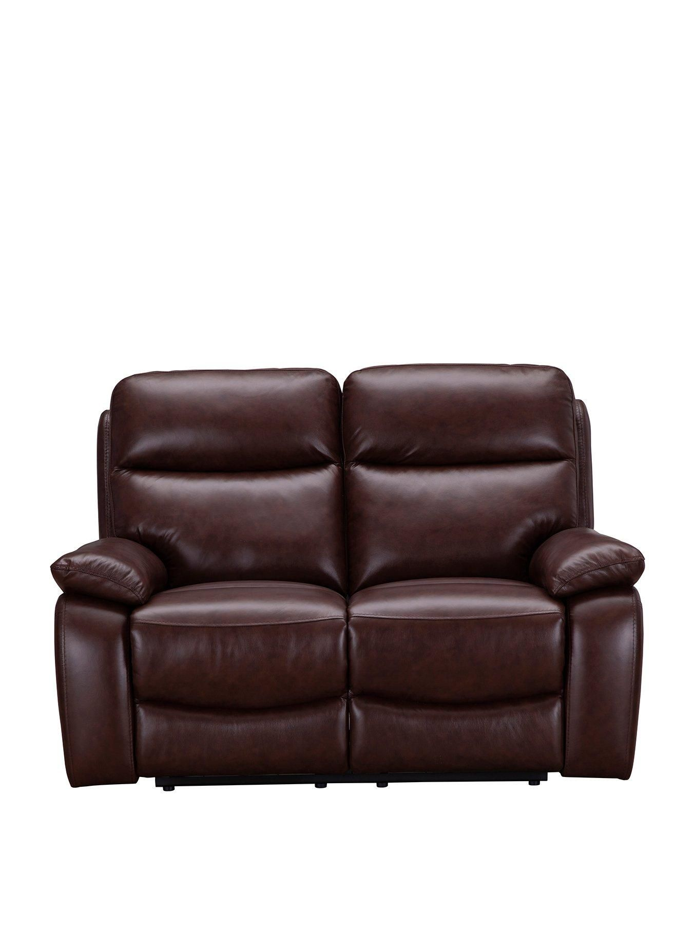 Hasting Real Leather Faux Leather 2 Seater Manual Recliner Sofa Reclining Sofa Recliner Sofa