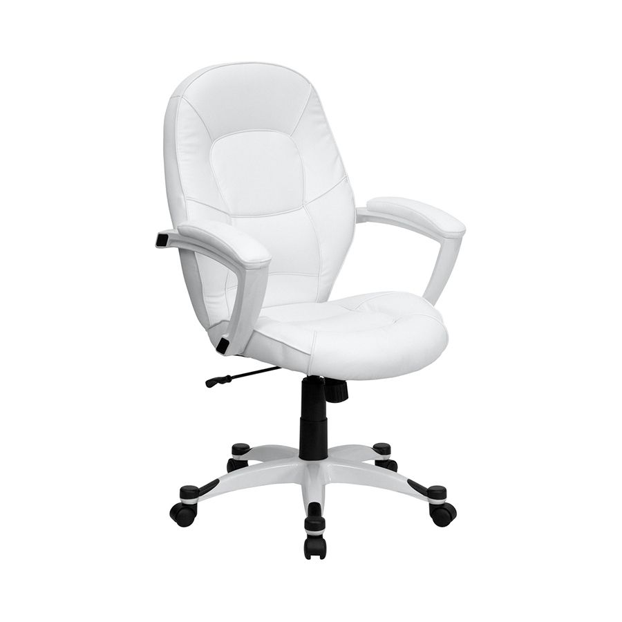 Small White Chair In 2020 White Office Chair Executive Office
