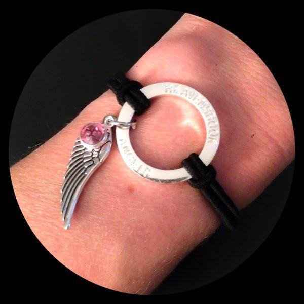 Large Angel Wing Halo Bracelet