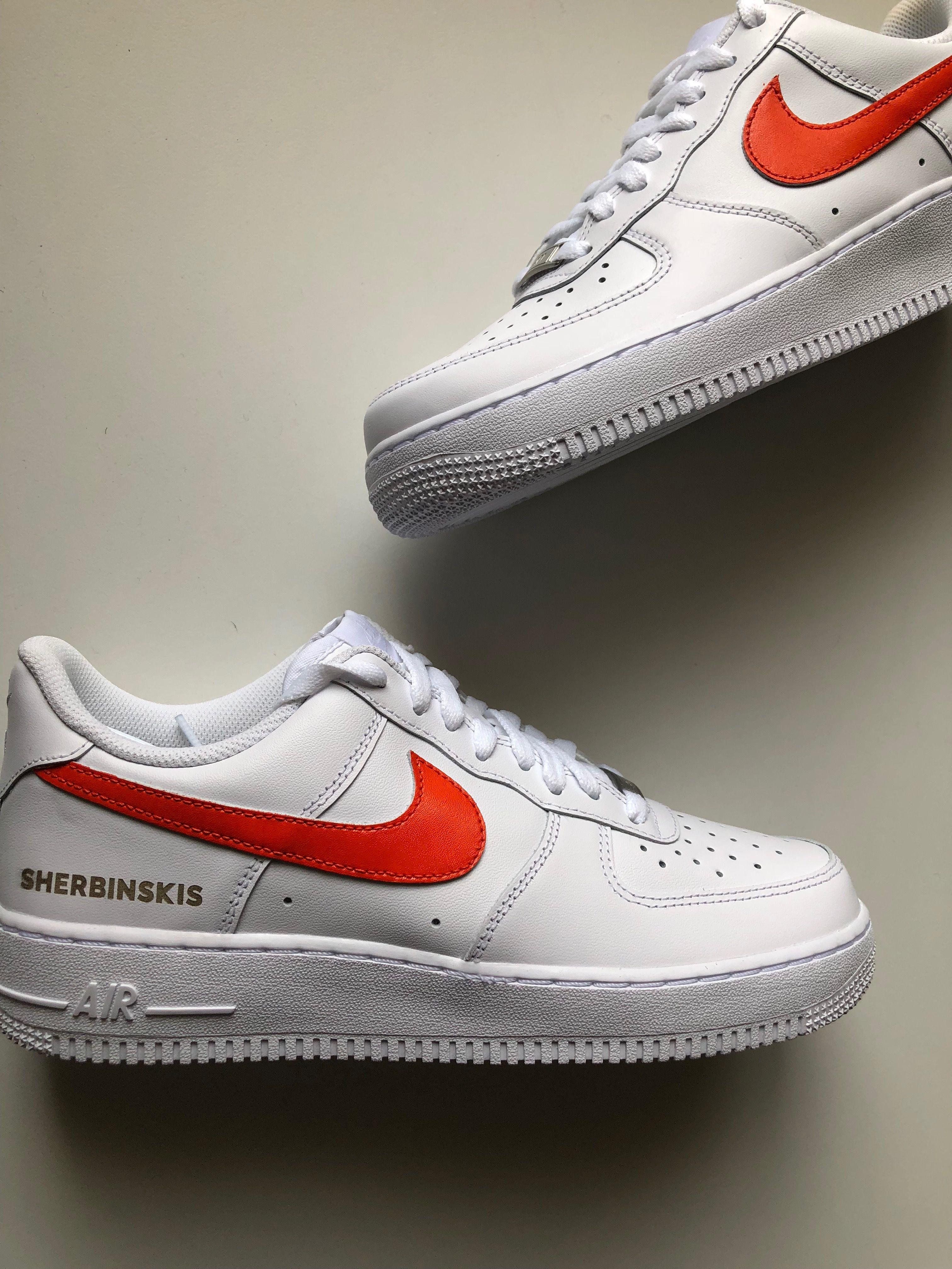 c6cfa41aeb87 SHERBINSKIS x Nike Air Force 1 Bespoke exclusive ComplexCon release –  SHERBINSKIS wordmark.