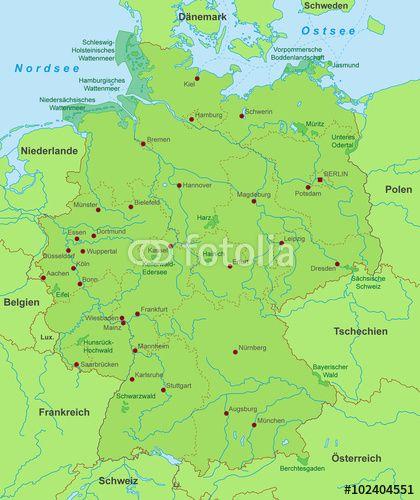 Vektor Karte Von Deutschland Naturschutz Karte Deutschland