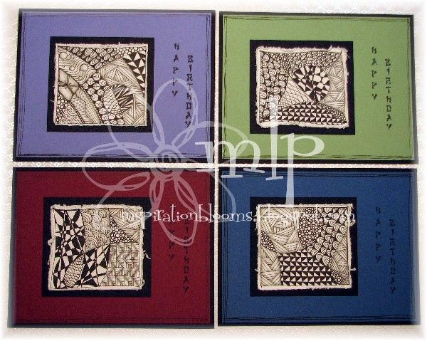 Zentangle Inspired Card Set by istamp31 - Cards and Paper Crafts at Splitcoaststampers