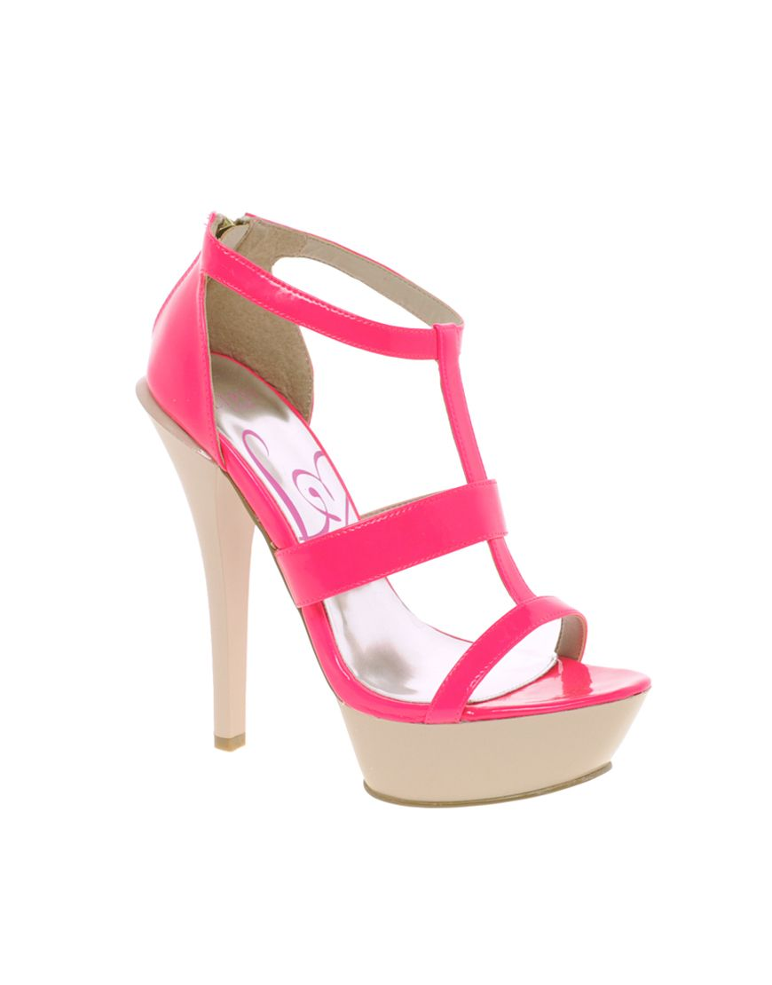 93923ab64 Designer Clothes, Shoes & Bags for Women. Lipsy Jazz Platform Zip Back  Sandals in Pink