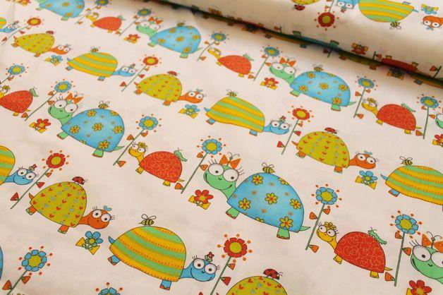 Schildkröten Turtles Kinder Stoffe Deko Stoff Baumwolle Baumwollstoff 0,5 m DIY