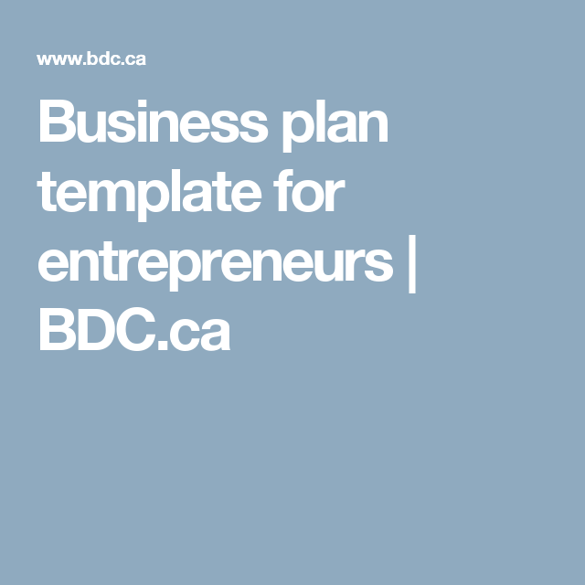 Business plan template for entrepreneurs bdc buddy the rescue business plan template for entrepreneurs bdc friedricerecipe Images