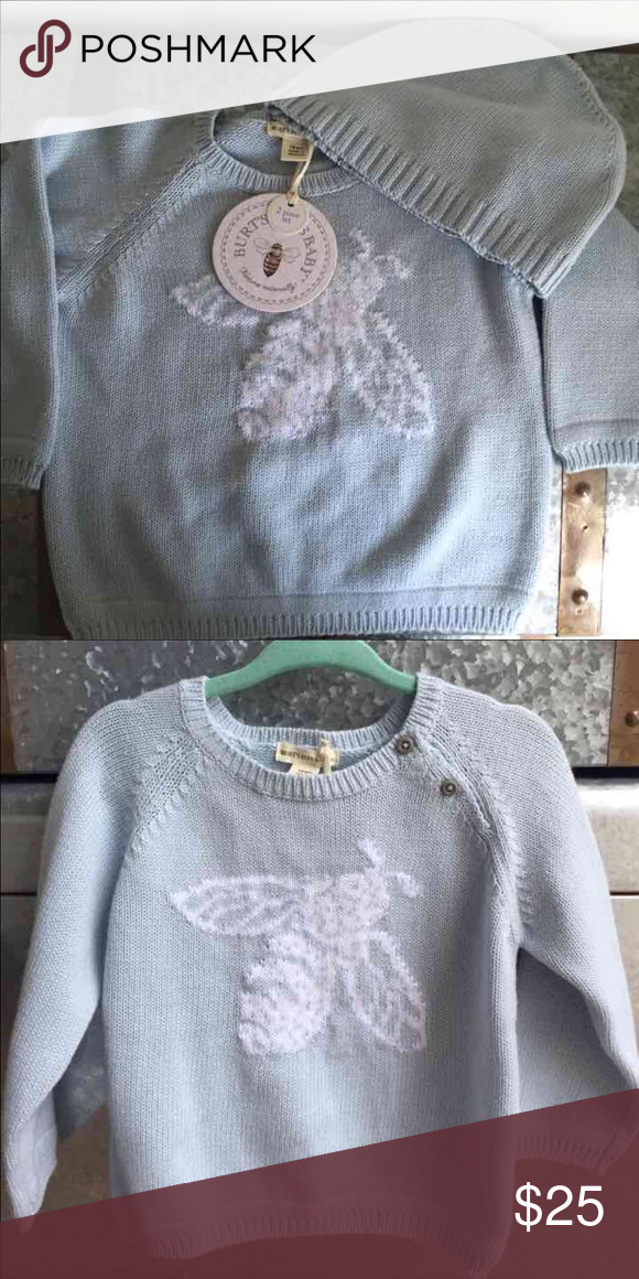 Burt's Bees Sweater & Hat set Blue unisex | brand new Burt's Bees Baby Shirts & Tops Sweaters